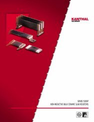 Slab resistors 500SP series (datasheet) - Kanthal