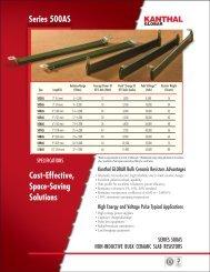 Slab resistors 500AS series (datasheet) - Kanthal