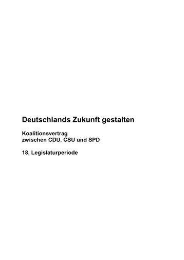 Gliederung Koalitionsvertrag - SPD