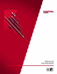 Axial-leaded resistors (datasheet) - HV Products