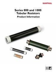 Series 800 and 1000 Tubular Resistors