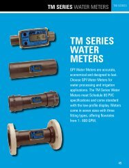 TM SERIES WATER METERS