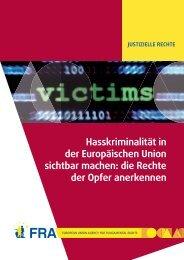 Hasskriminalität in der Europäischen Union sichtbar machen: die ...