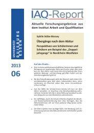 IAQ-Report 2013-06 als PDF - Institut Arbeit und Qualifikation