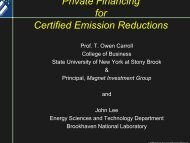 Private Financing for Certified Emission Reductions - iea-etsap