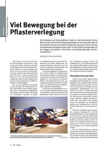 Viel Bewegung bei der Pflasterverlegung - Bauverlag