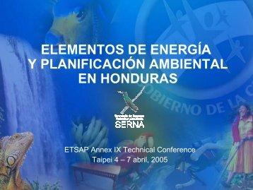 elementos de energía y planificación ambiental en ... - iea-etsap