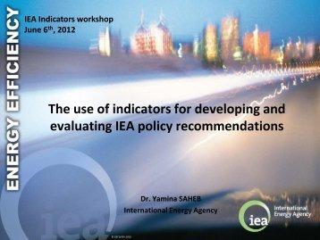 Yamina Saheb - International Energy Agency