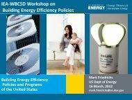 Mr. Mark FRIEDRICHS - International Energy Agency
