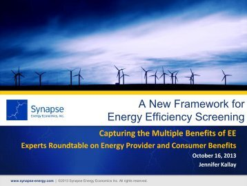 Aligning energy efficiency policy goals