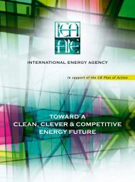 toward a clean, clever & competitive energy future - IEA