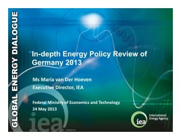In-depth Energy Policy Review of Germany 2013 - IEA