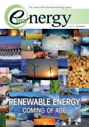 Issue 2 - Renewable Energy Coming of Age - IEA