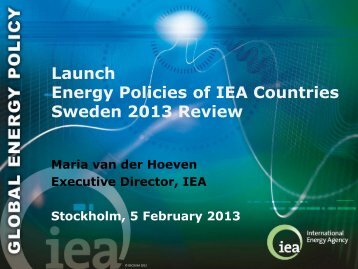 Energy Policies of IEA Countries Switzerland 2012 Review