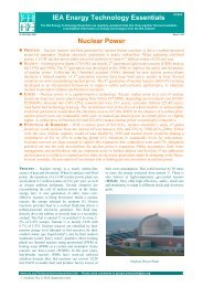 IEA Energy Technology Essentials - Nuclear Power (No.4 - March ...