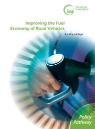 Policy Pathway  ImprovIng the Fuel economy oF road vehIcles - IEA