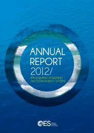 OES Annual Report 2012 - Ocean Energy Systems