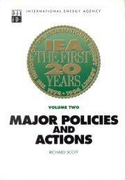 The History of the IEA 1974-1994, IEA the First 20 Zears, Vol. II ...