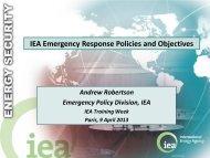 Day 2 Emergency Response Policy - International Energy Agency