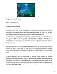 Sehr geehrte Herr Minister Rösler, Herr Staatsekretär Kapferer ... - IEA