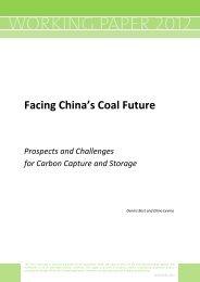 Facing China's Coal Future - IEA