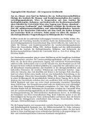 Tagungsbericht: Russland - Österreichs Bundesheer