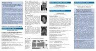 Prospekt mit dem Programm der Friedenskonferenz 2014