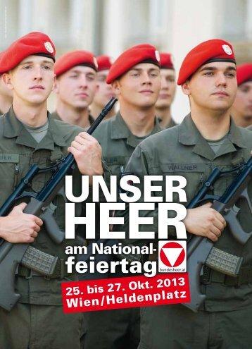 Das Programmheft zum Nationalfeiertag 2013 - Österreichs ...