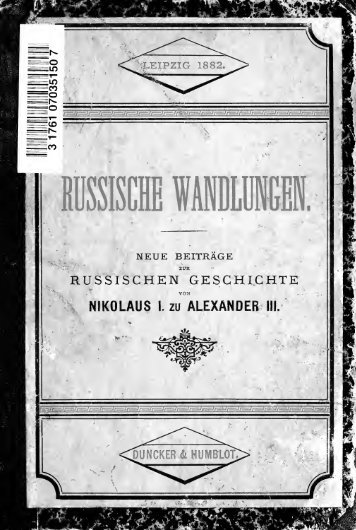 Russische Wandlungen - University of Toronto Libraries