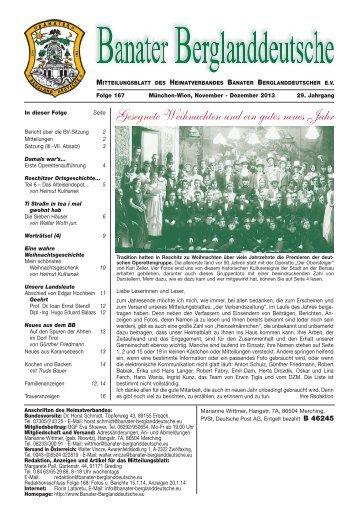 Folge 139 (Page 1) - Banater Berglanddeutsche