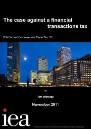 The case against a financial transactions tax - Institute of Economic ...