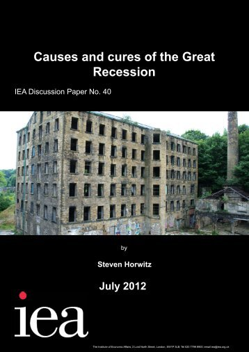 Causes and Cures of the Great Recession.pdf - Institute of Economic ...