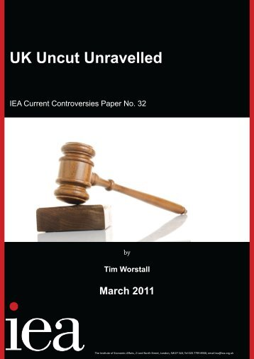 'UK Uncut Unravelled' (PDF) - Institute of Economic Affairs