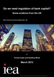 Do we need regulation of bank capital? Some evidence from the UK