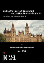 Binding the Hands of Government - Institute of Economic Affairs