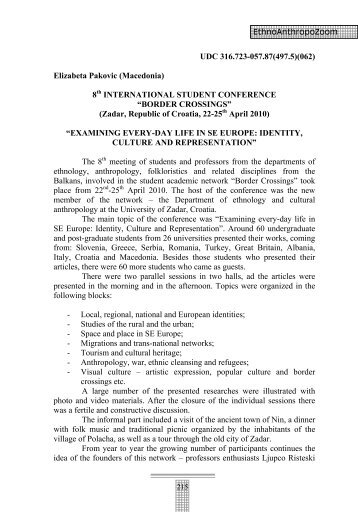 (Macedonia) 8th INTERNATIONAL STUDENT CONFERENCE