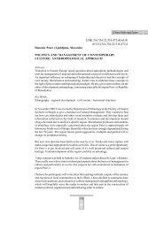 Simonic Peter (Slovenia) Politics and Management of Contemporary ...