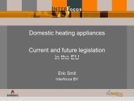 Domestic heating appliances Current and future legislation in the ...