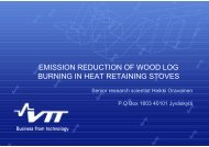Emission reduction of wood log combustion in heat retaining stoves ...