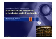 Introduction and overview of technologies applied worldwide