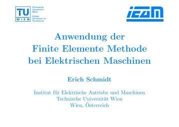 Anwendung der Finite Elemente Methode bei Elektrischen Maschinen