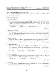 Übungsklausur 1 (PDF) - Institut für Experimentelle und Angewandte ...