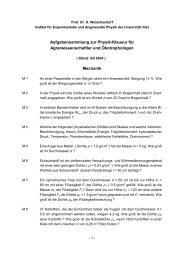 Aufgabensammlung - Institut für Experimentelle und Angewandte ...
