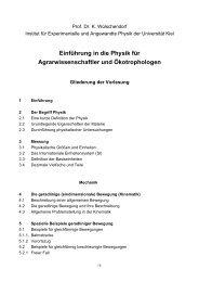 Gliederung - Institut für Experimentelle und Angewandte Physik