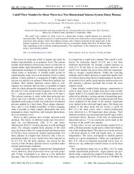 Cutoff Wave Number for Shear Waves in a - Institut für ...