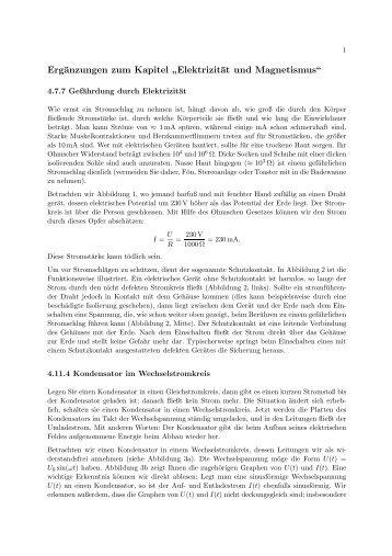 Elektrizität und Magnetismus - Die Seiten der DIE SEITEN DER ...
