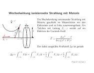 Wechselwirkung ionisierender Strahlung mit Materie