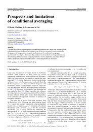 Prospects and limitations of conditional averaging - ResearchGate
