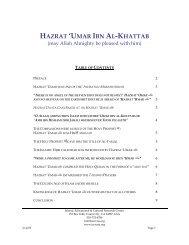 HAZRAT 'UMAR IBN AL-KHATTAB - IECRC