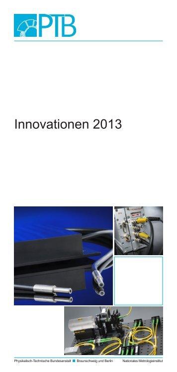 Innovationen 2013 - PTB